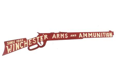 RARE Winchester Arms & Ammunition Outdoor Sign