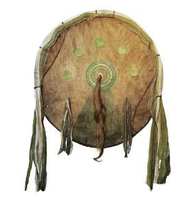 Osage War Shield Polychrome Painted c. 1860-1870