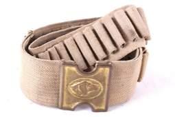 US Cavalry Indian Wars Dog Head Cartridge Belt