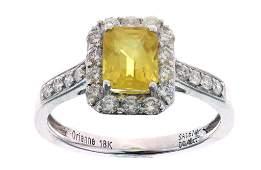 Vintage Estate Montana Sapphire & Diamond 18K Ring