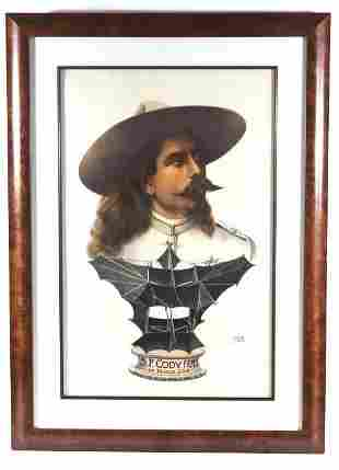 SF Cody Famous War Kite Chromolithograph Poster