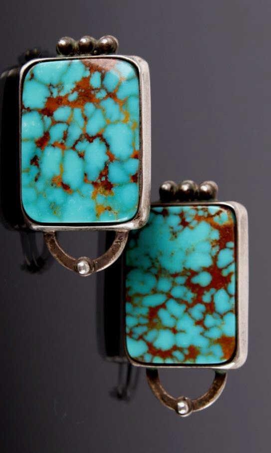 Navajo Native American Royston Turquoise Earrings