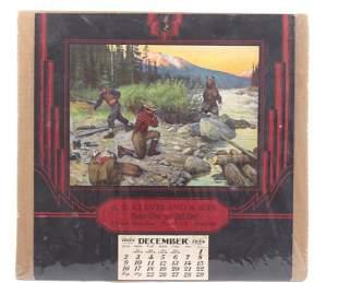 "1934 Calendar ""Bruin's Suprise"" by Philip Goodwin"
