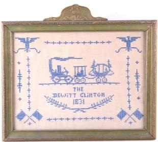 Sampler of Dewitt Clinton Locomotive c 1831