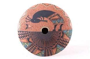 Paquin Polychrome Seed Pot Laguna Pueblo