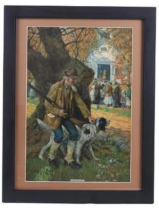 William Eaton Devotion Original Framed Painting
