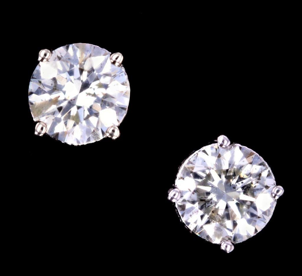 Classic Antique Style 1.04 ct Diamond 14K Earrings