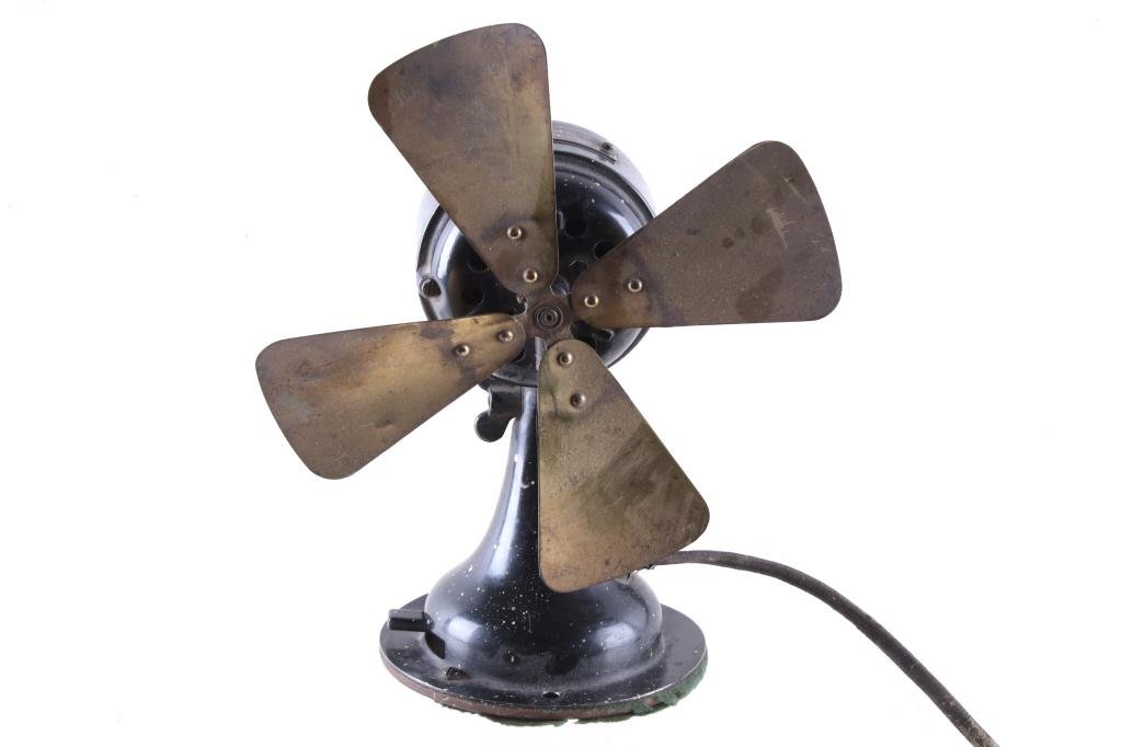 Early 1900s Westinghouse Electric 120v Brass Fan