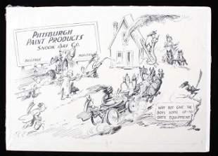 JK Ralston 18961987 Snook Art Original Drawing