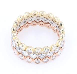 228 cts Diamond ThreePiece Gold Ring Set