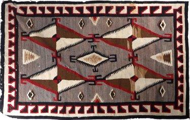 Navajo Ganado Hubbell Trading Post Rug