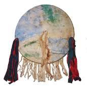 Southern Plains Polychrome Dance Shield c. 1800's