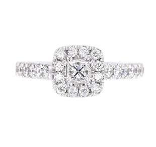 EXCELLENT 123ct VS1 G Color Diamond Platinum Ring