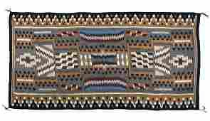 Navajo Storm Pattern Rug Pinon circa 1975 LARGE