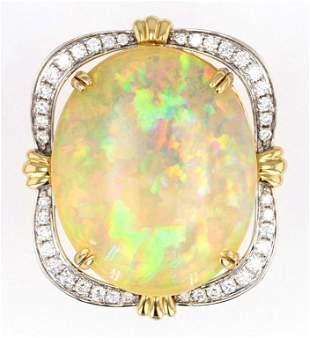 Australian Lightning Ridge 2446ct Opal 14K Ring