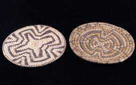 Papago Native American Hand Woven Coil Plaques