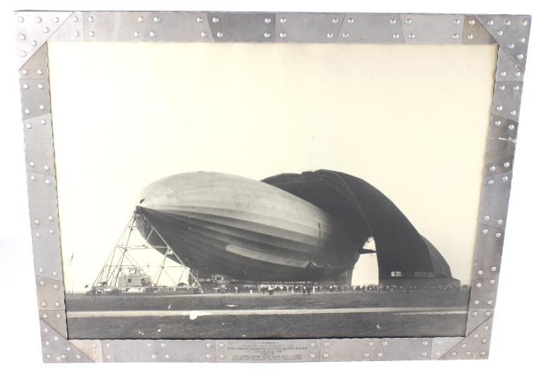 1931 Reed Brothers Zeppline Photo - Zeppelin Frame