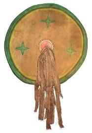 Comanche Buffalo Hide Medicine Shield 19th C.