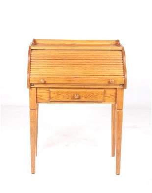 Quarter Sawn Oak RollTop Writing Desk