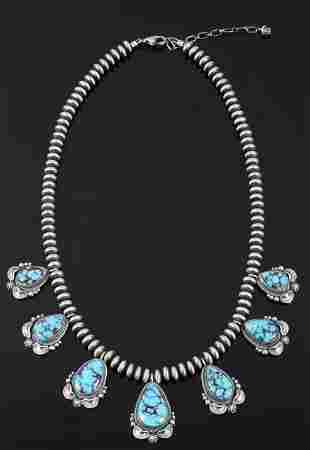 Navajo Egyptian Turquoise Sterling Necklace