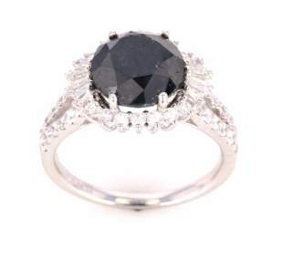 Rare 443 ct Black Diamond Platinum Ring