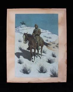 Frederic Remington The Cossack Chromolithograph