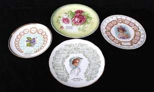 Early 1900s Advertising China Plates From MT WY