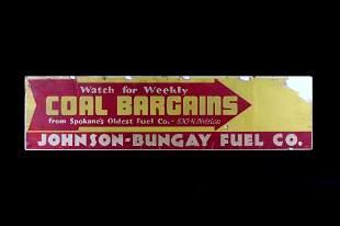 JohnsonBungay Fuel Co Coal Bargains Sign
