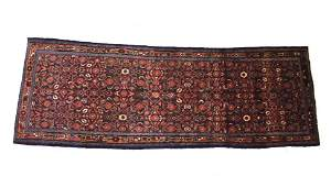 Sarouk Persian Hand Knotted Wool Runner Rug 1930s
