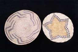Pair of Papago Indian Hand Woven Baskets