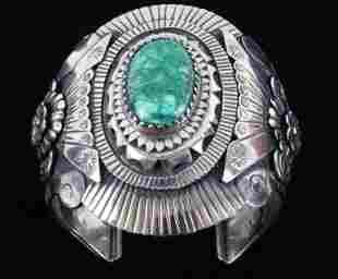 Armand American Horse Alpaca Silver Turquoise Cuff