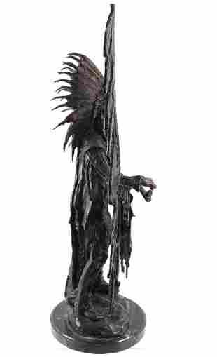 "Carl Kauba ""Peace"" Indian Chief Bronze Sculpture"