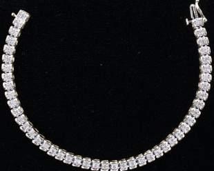 Luxury 10kt. Yellow Gold Diamond Bracelet