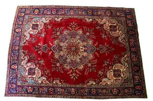 Tabriz Persian Hand Knotted Large Wool Rug 1900's