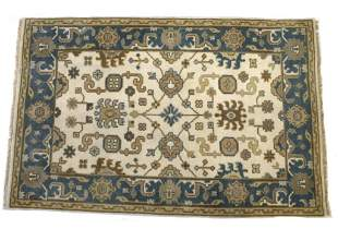 Oushak Persian Hand Knotted Wool Area Rug 1930's
