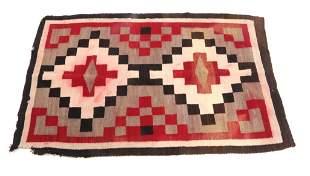 Navajo Klagetoh Wool Trading Post Rug c. 1930's