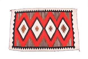 Navajo Ganado Crystal Eye Dazzler Rug c. 1950-60s