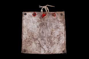 Plains Indians Polychrome Painted Parfleche Purse