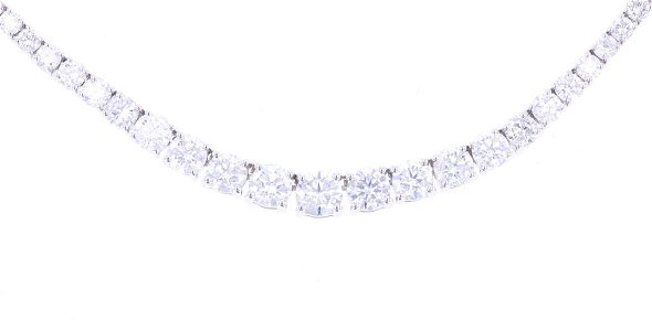 10.21 ct. Brilliant Graduated Diamond 14k Necklace