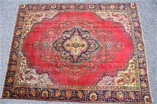 Tabriz Persian Hand Knotted Large Wool Rug 1920-40