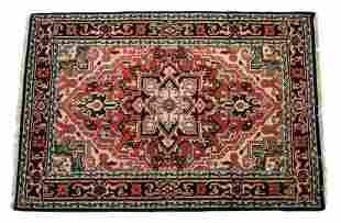 Heriz Serapi Persian Hand Knotted Wool Area 1930's