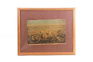 Custer's Last Stand Framed Lithograph by A. Becker