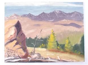 Carl Tolpo Mt. Fremont Wind River Wyoming c.1968