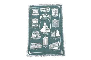 Butte Montana Heritage Two Sided Throw Blanket