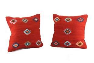 Triquis Medallion Wool Set of Pillows A. Gutierrez