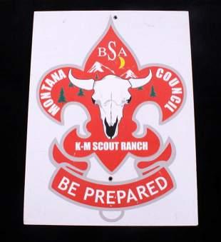 Boy Scout Montana Council Resin Sign