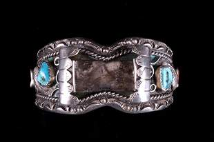 Navajo Heavy Thick Old Pawn Sterling Cuff