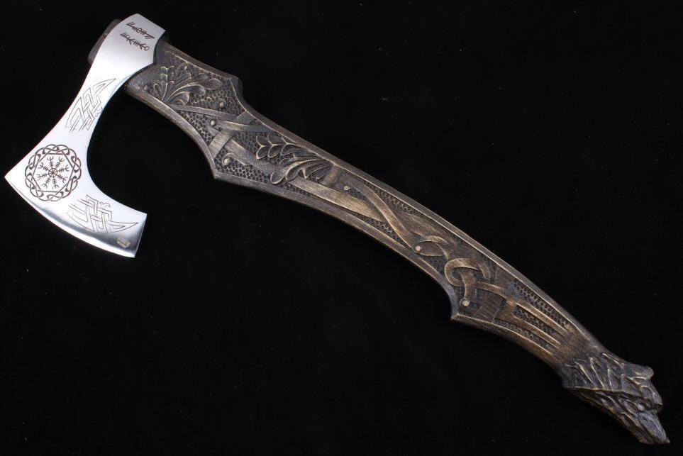 Bjorn Ironside Forge Viking Style Bearded Axe