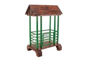 Lambert Custom Priefert Chute Wooden Saddle Stand