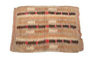Early Navajo Stepped Chinle Rug c. 1890-1910